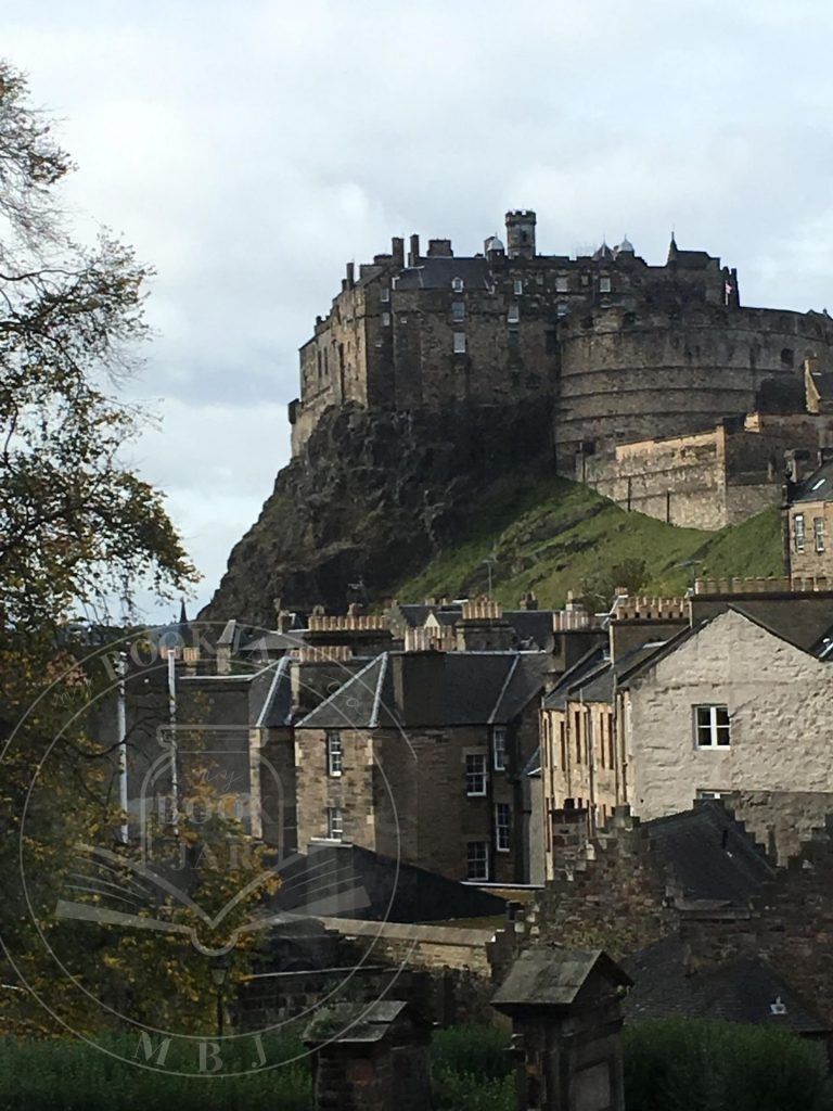 Edinburgh Castle side view from The Elephant House close-up